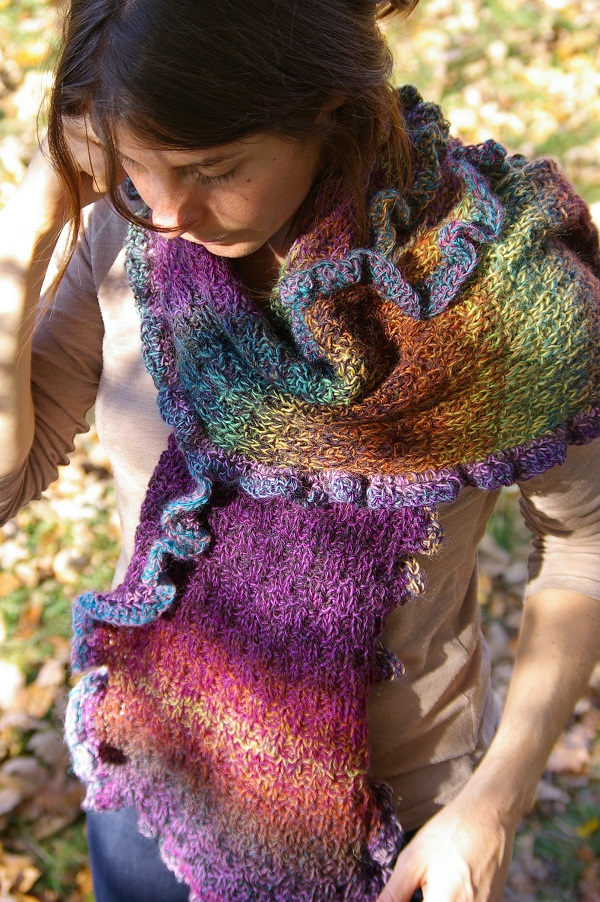 ¸.•♥¨) Tricot Echarpe froufrous GM (¨♥•.¸
